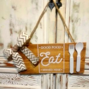 Handcrafted Wooden Eat Sign